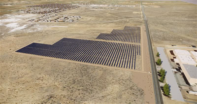 Artists rendering of solar array to be built in Grants and Bluewater N.M.